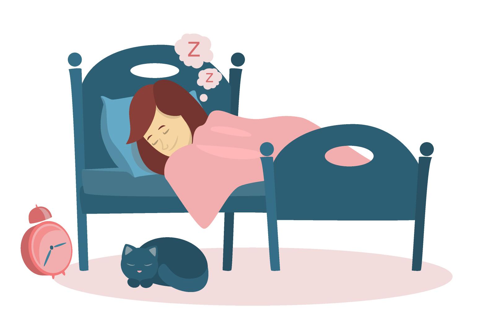 睡眠中のバストの状態